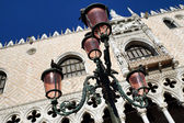 Pink lights on the Piazza San Marco, Venice, Italy — Stock Photo