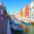 Stock Photo: Canal on Burano island, Venice, Italy