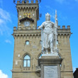 Public Palace and Statue of Liberty in San Marino. Europe — Stock Photo #37795589