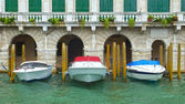 Boats on Grand Canal in Venice, Italy, Europe — Stockfoto
