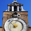 Clock on the church of San Giacomo di Rialto in Venice, Italy — Stock Photo