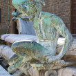 Detail of the Neptune Fountain on the Piazza della Signoria in F — Stock Photo