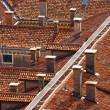 Stock Photo: Old tiled roofs of Venice, Italy
