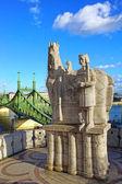 Liberty Bridge. Budapest, Hungary — Stock Photo