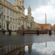 Stock Photo: PiazzNavonin Rome, Italy