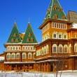 The wooden palace of Tsar Alexei Mikhailovich in Kolomenskoye pa — Stock Photo