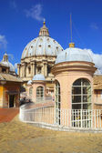 The dome of St. Peter in Vatican, Rome, Italy — Stok fotoğraf
