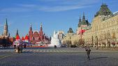 Moskva, rusko - 25. ledna: kluziště na rudém náměstí byla — Stock fotografie