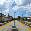 Stock Photo: Railway platform