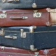 Pile of colorful vintage suitcases — Stock Photo #41240353