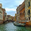 Canal in Venice and motorboats, Italy, Europe — Stock Photo #41473023