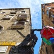 Stock Photo: Facades of Venetistreets, italy