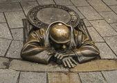 Památník instalatér v bratislavě, slovensko — Stock fotografie