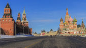 Red Square (Kremlin and St. Basil's Cathedral.) Moscow, Russia — Stock Photo