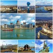 Collage of landmarks of Budapest, Hungary — Stock Photo #43990267