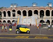 VERONA, ITALY-3 of SEPTEMBER. the world famous building of an am — Stock Photo