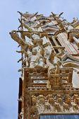 锡耶纳,托斯卡纳,意大利的大教堂。锡耶纳主教座堂 — 图库照片