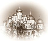 Annunciation and the Dormition Cathedral of the Moscow Kremlin.  — Stock Photo