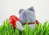 Easter egg in the grass — Stock Photo