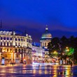 Palace Square in St. Petersburg (view of St. Isaac's Cathedral) — Stock Photo #49308835