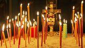 Light church candles — Stockfoto