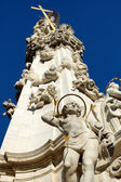 Plague Column on the Buda hills, Budapest, Hungary — Stock Photo