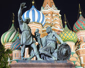 Monument to Minin and Pozharsky on Red Square, Moscow, Russia — Stock Photo