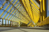 Andrew pedestrian bridge in Moscow - the view from inside. — Stock Photo