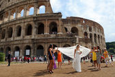 ITALY, ROME, AUGUST 28. world-famous building of the Colosseum i — Stock Photo