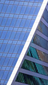 Glass facades of skyscrapers — Stock Photo