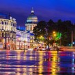 Palace Square in St. Petersburg (view of St. Isaac's Cathedral) — Stock Photo #49310199