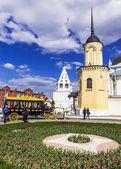 Kolomna, Rusland-3 mei. moderne kopie van paarden getrokken wagens (om — Stockfoto