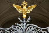 Russian gold double-headed eagle in the Hermitage, St. Petersbur — Stock Photo