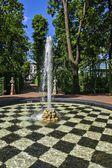Summer Garden in St. Petersburg, Russia — Stock Photo