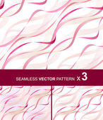 Tree seamless vector patterns with rose ribbons eps10 — Vector de stock