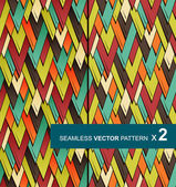 Two seamless vector patterns with colored triangles eps10 — Stock Vector