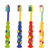 Kid toothbrushes — Stock Vector