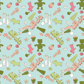 Seamless pattern set with toys for kid illustration — Stock Photo