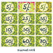 Set of discount cards. — Stock Vector