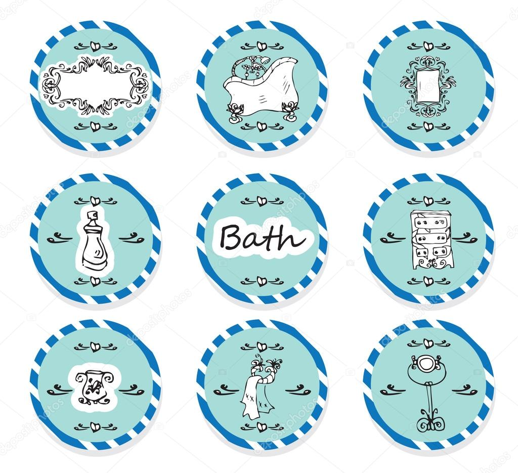 Set De Bau00f1o Originales:Vector set Etiquetas vintage u2013 cosmu00e9tica de ...