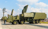 S-300 - long-range SAM system. Command truck. — Stock Photo