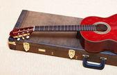 Akustická kytara. — Stock fotografie