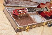 Guitarra acústica. — Fotografia Stock