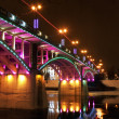Stock Photo: Kirov's bridge at night.
