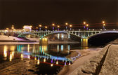 Kirov's bridge at night. — Stock Photo