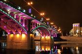 Kirov's bridge at night. — Stock Photo