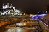 River Vitba mouth. Downtown Vitebsk. — Stock Photo