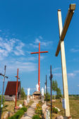 Golgotha and the highest Christian cross. — Stock Photo