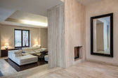 Travertine house: Hallway — Stock Photo