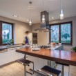 Stock Photo: Travertine house - stylish kitchen
